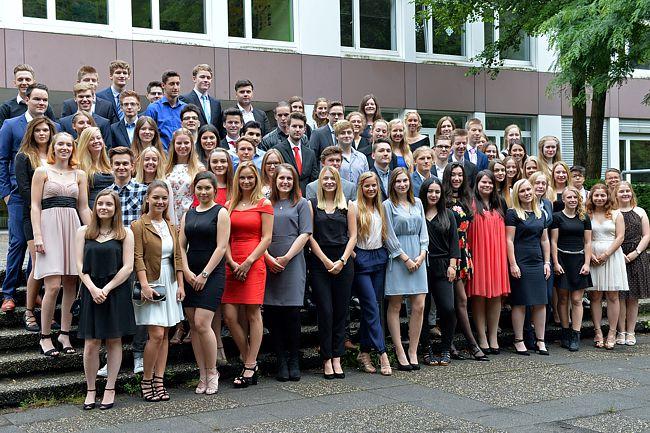 Der stolze Abiturjahrgang 2017